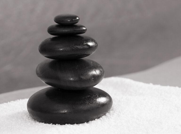 Steine für die Hot-Stone-Massage